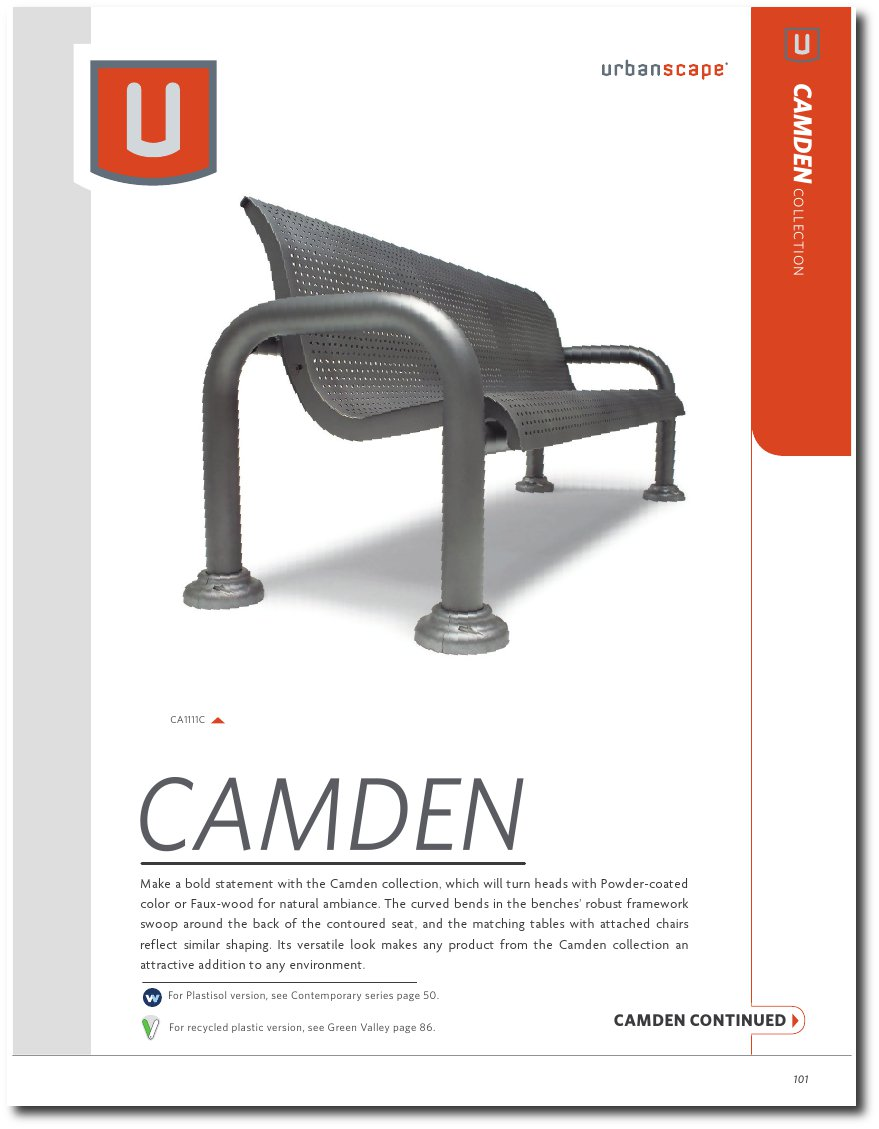 Camden Collection Catalog Pages