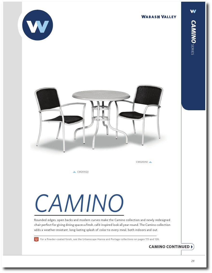 Camino Collection Catalog Pages
