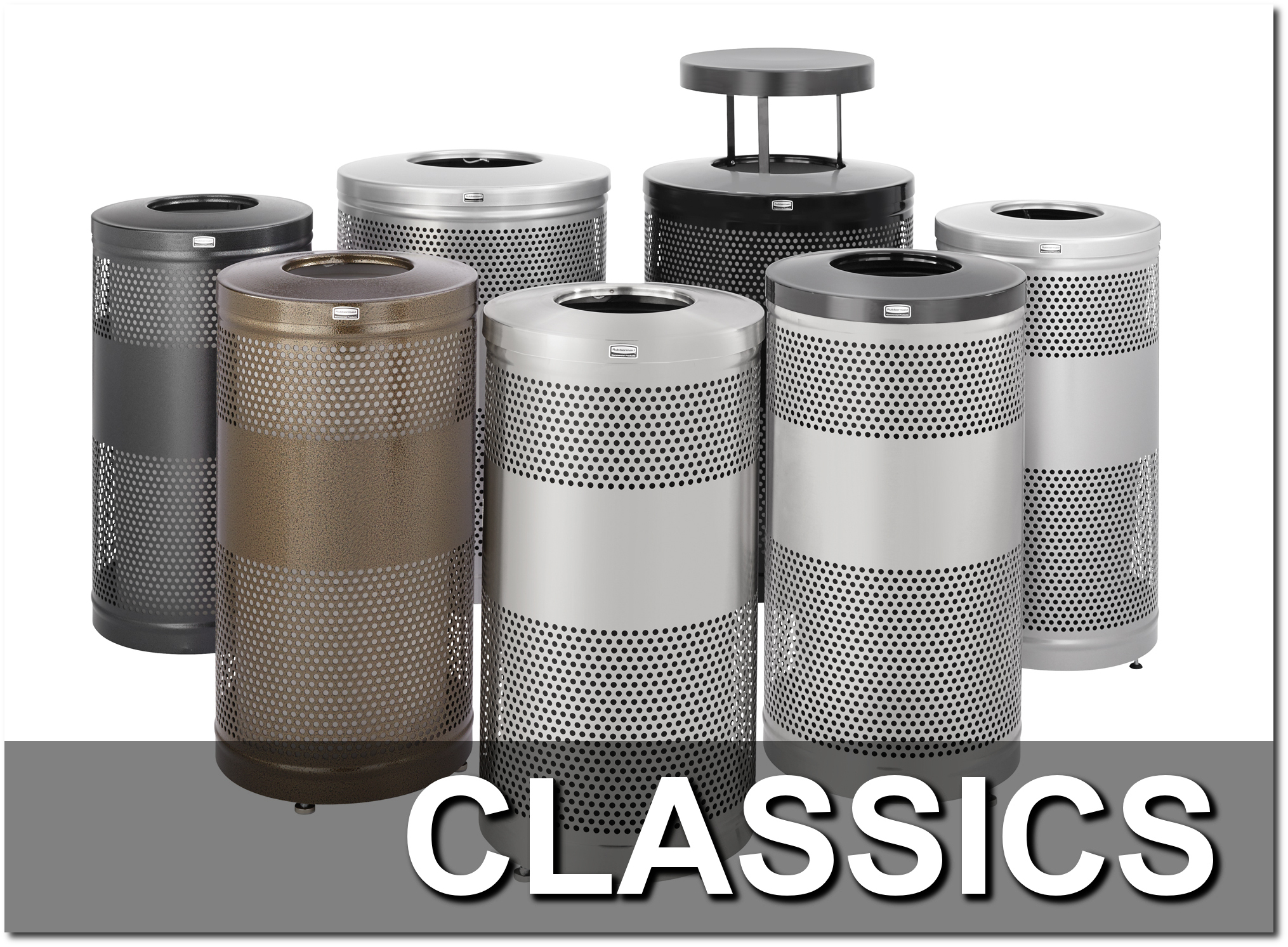 Classics Collection Trash Receptacles