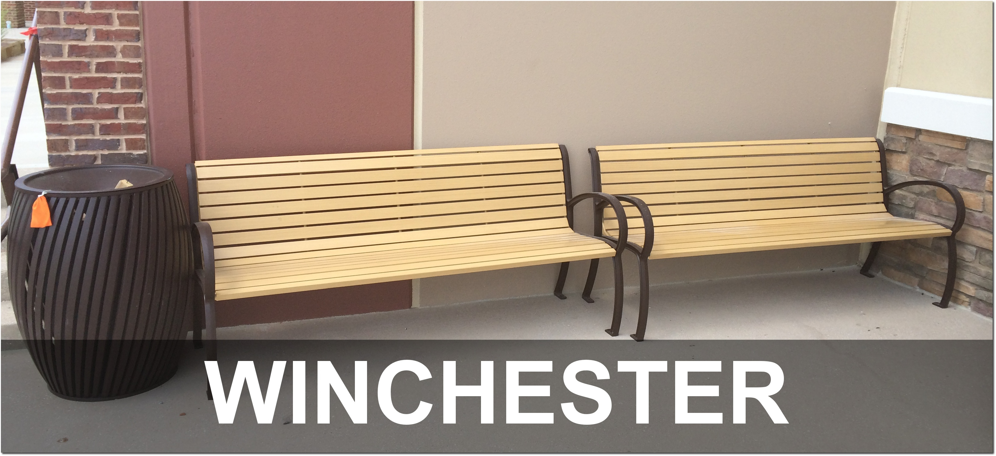 Winchester Collection Outdoor Commercial Park Benches