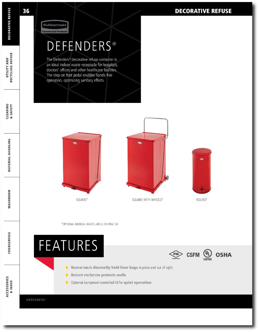 Defenders Series Medical Step Cans