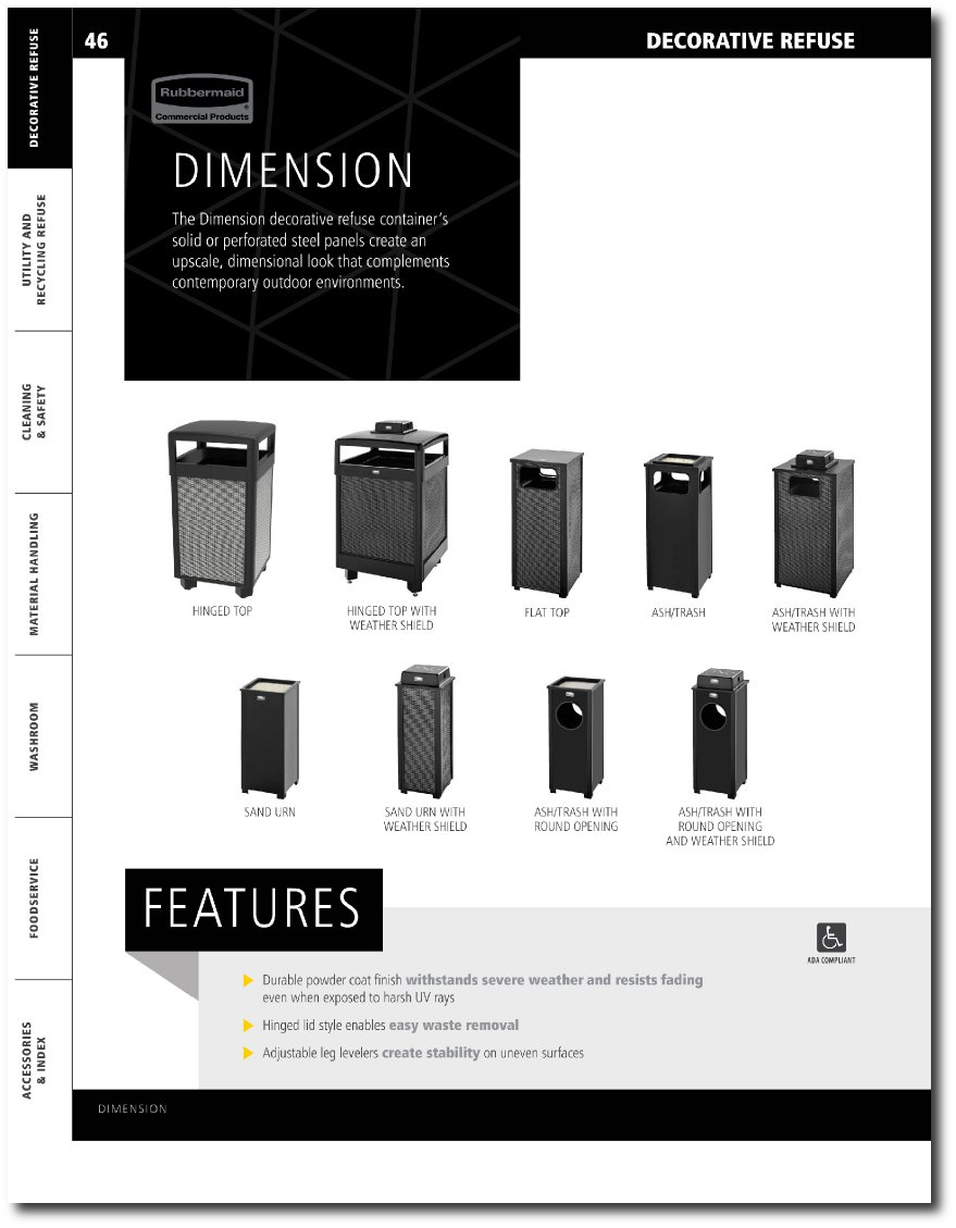 Dimension Series Updated Catalog Pages