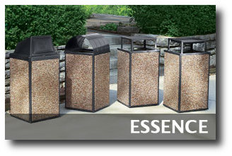 Essence Collection Stone Trash Receptacles