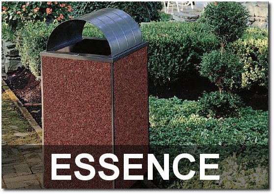 Essence Collection Stone Outdoor Commercial Trash Receptacles