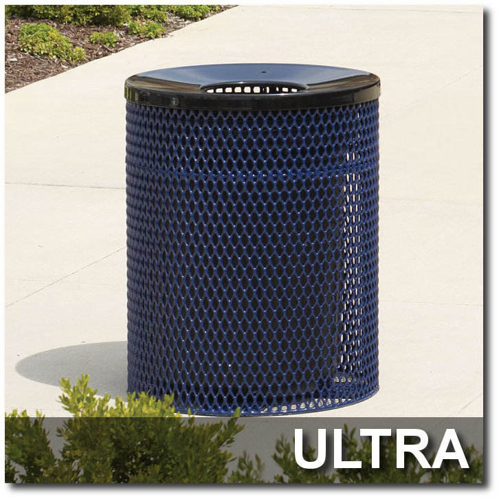 Ultra Collection Steel Trash Receptacles