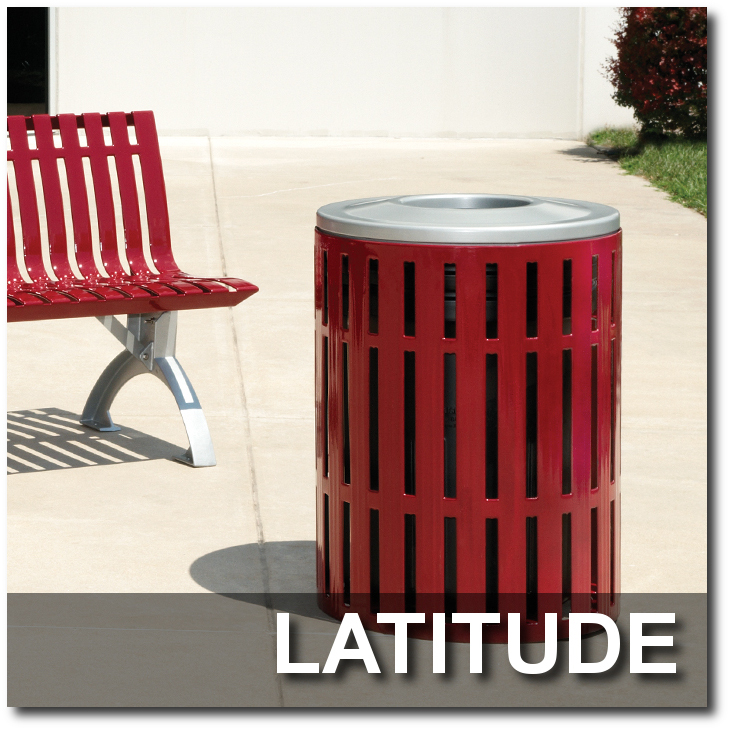 Latitude Collection Trash Receptacles