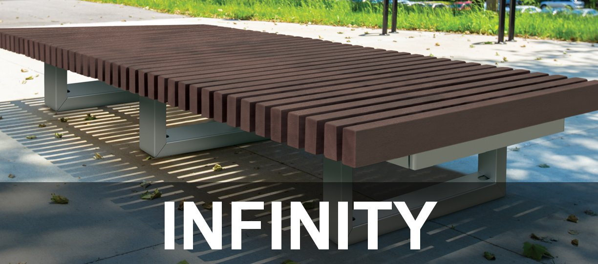 Infinity Collection Modular Commercial Park Benches