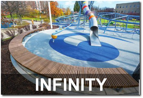 Infinity Collection Modular Curved Park Benches