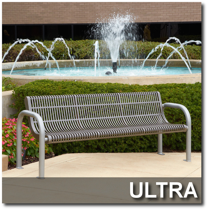 Ultra Collection Steel Park Benches