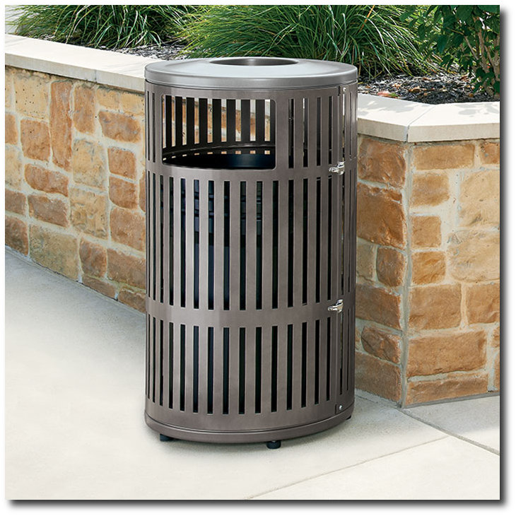 Metrix Collection Trash Receptacle