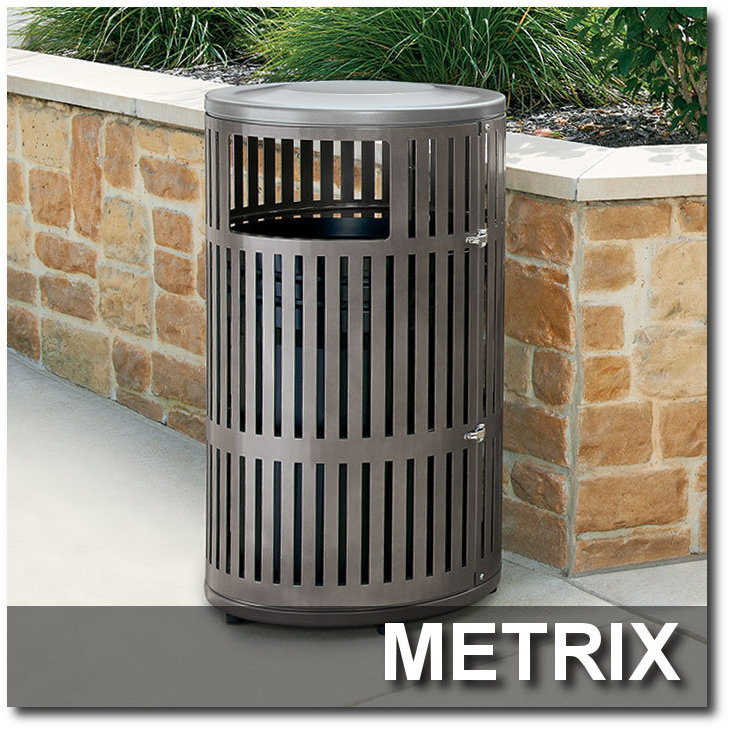 Metrix Collection Trash Receptacles