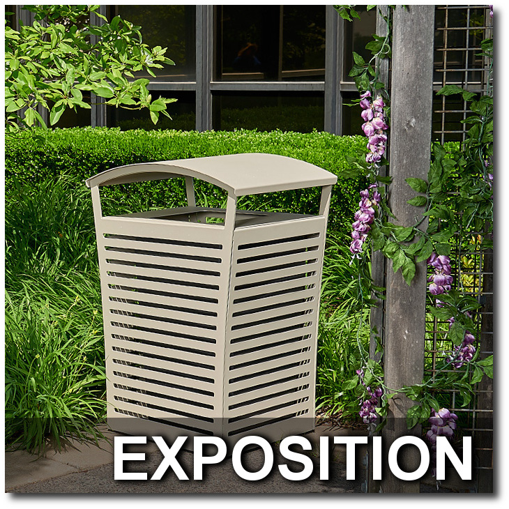 Exposition Collection Trash Receptacle