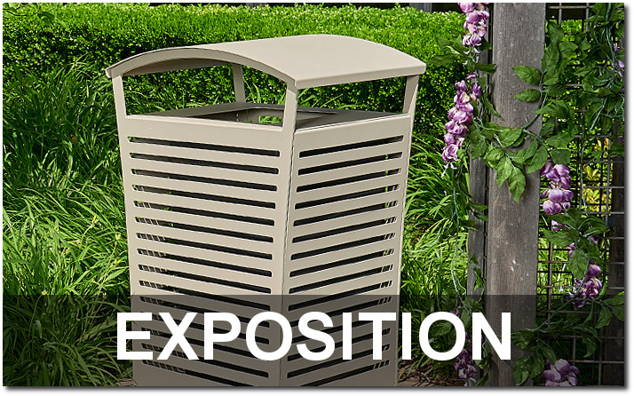Exposition Collection Outdoor Commercial Trash Receptacles