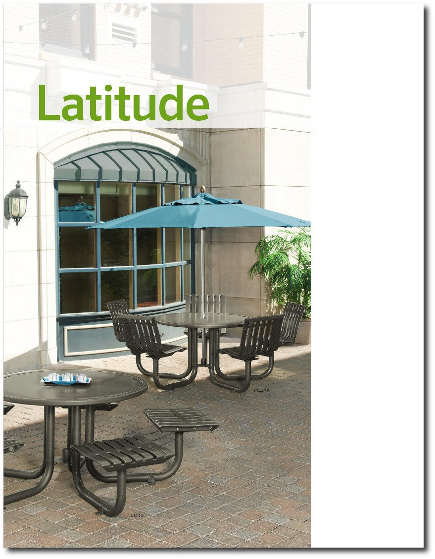 Latitude Collection Brochure Cover Page