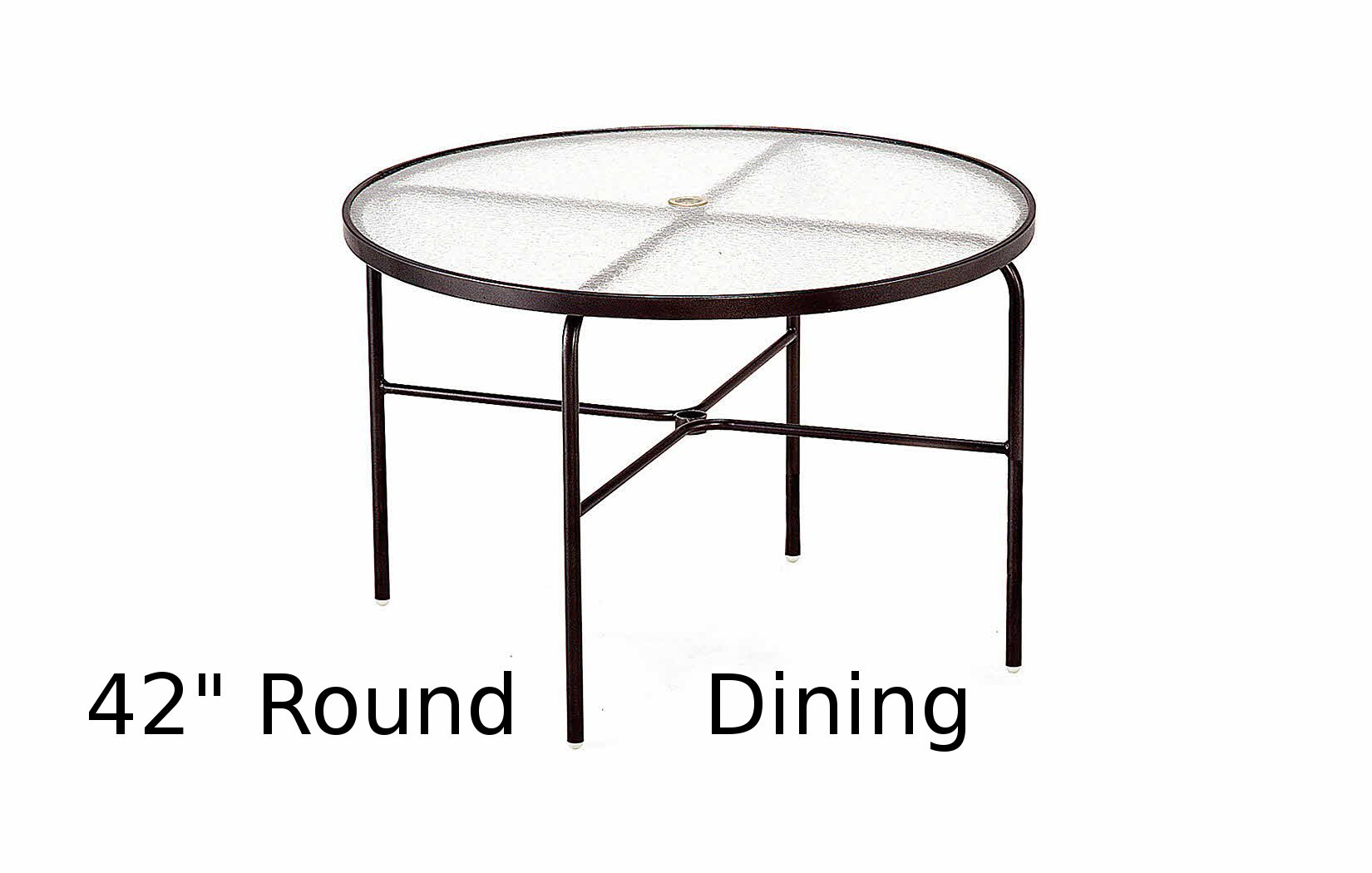 M1042-6  42 Inch Round Acrylic Top Dining Table