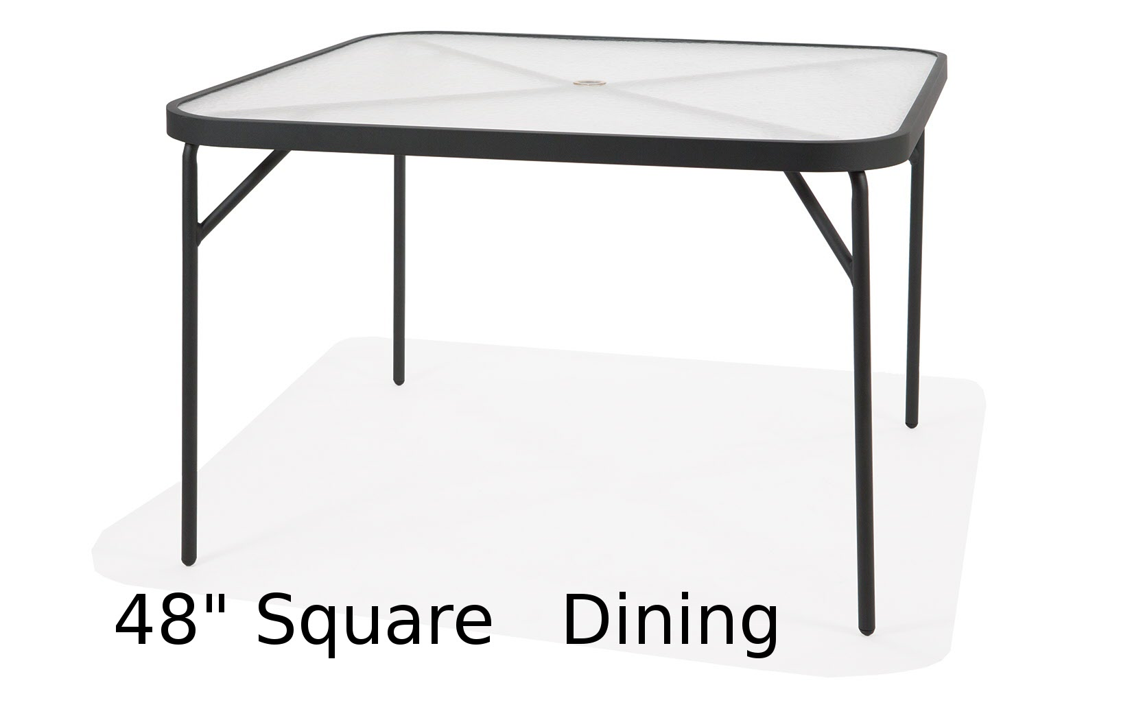 M1048-6WCA  48 Inch Square Acrylic Top Dining Table