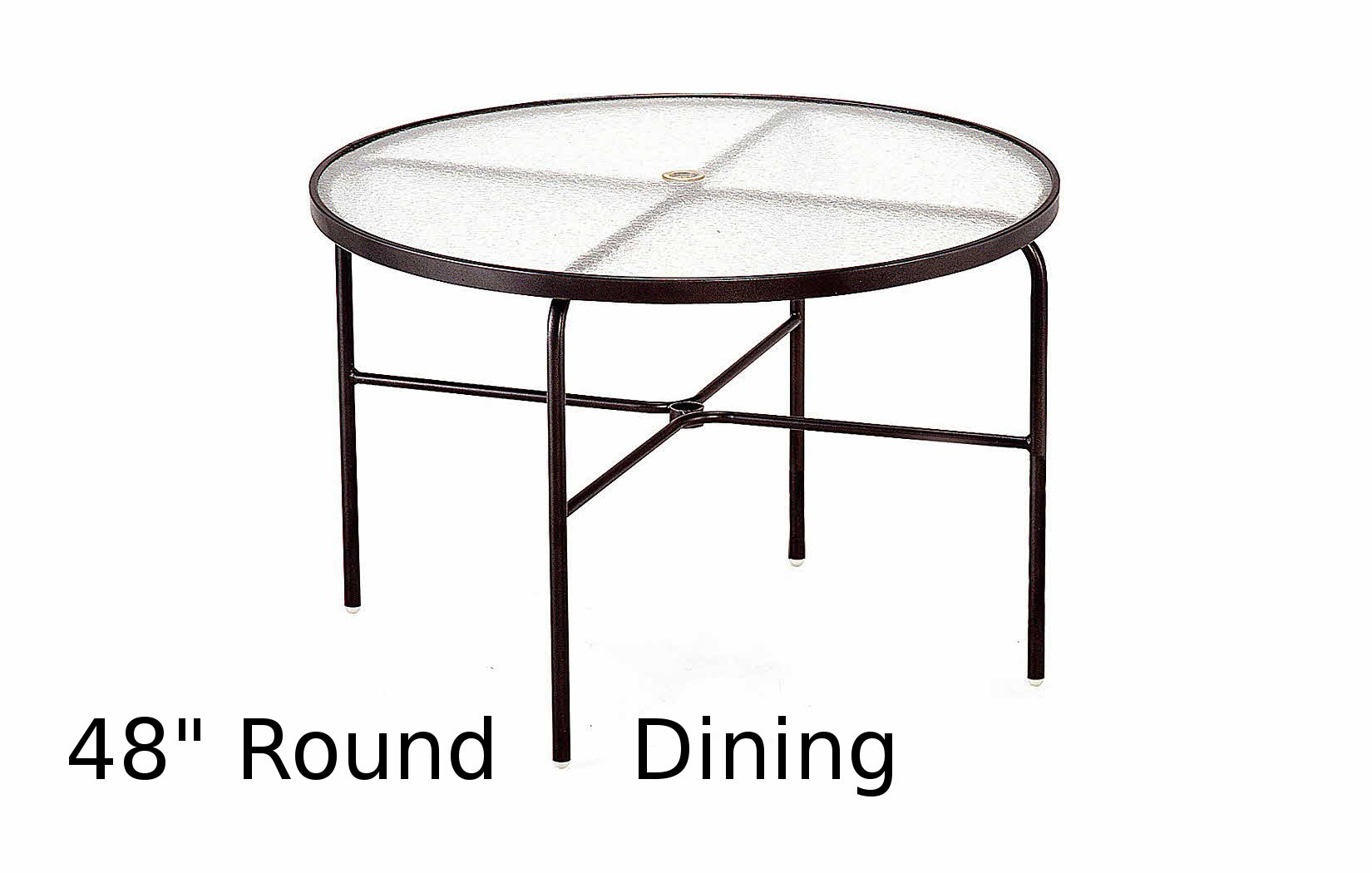 M1048-6  48 Inch Round Acrylic Top Dining Table