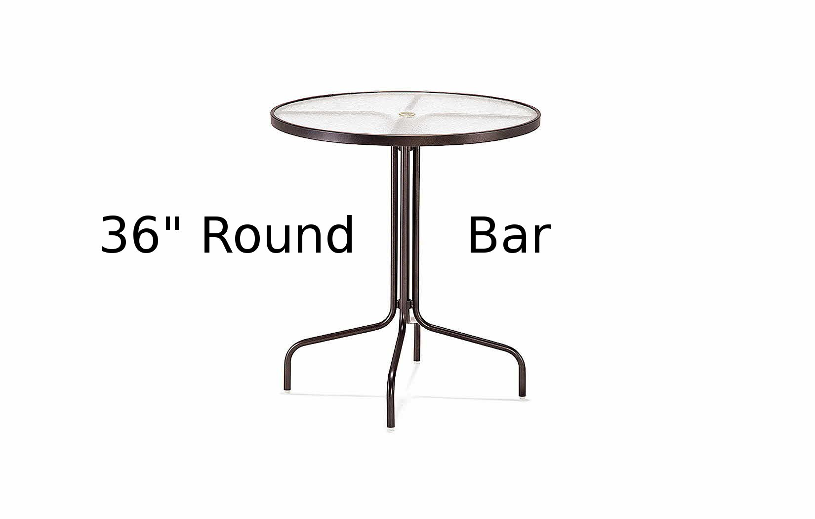 M1538  36 Inch Round Acrylic Top Bar Height Table
