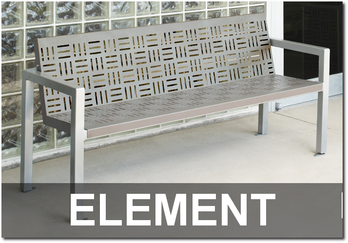 Element Collection Modern Outdoor Commercial Park Benches