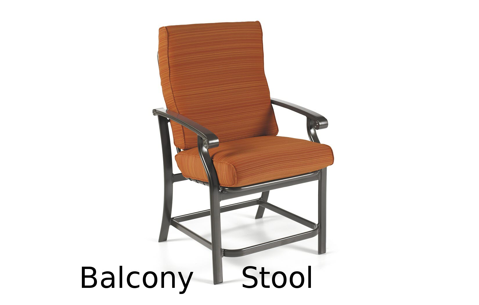 M26014B  Madero Cushion Collection Balcony Height Stool