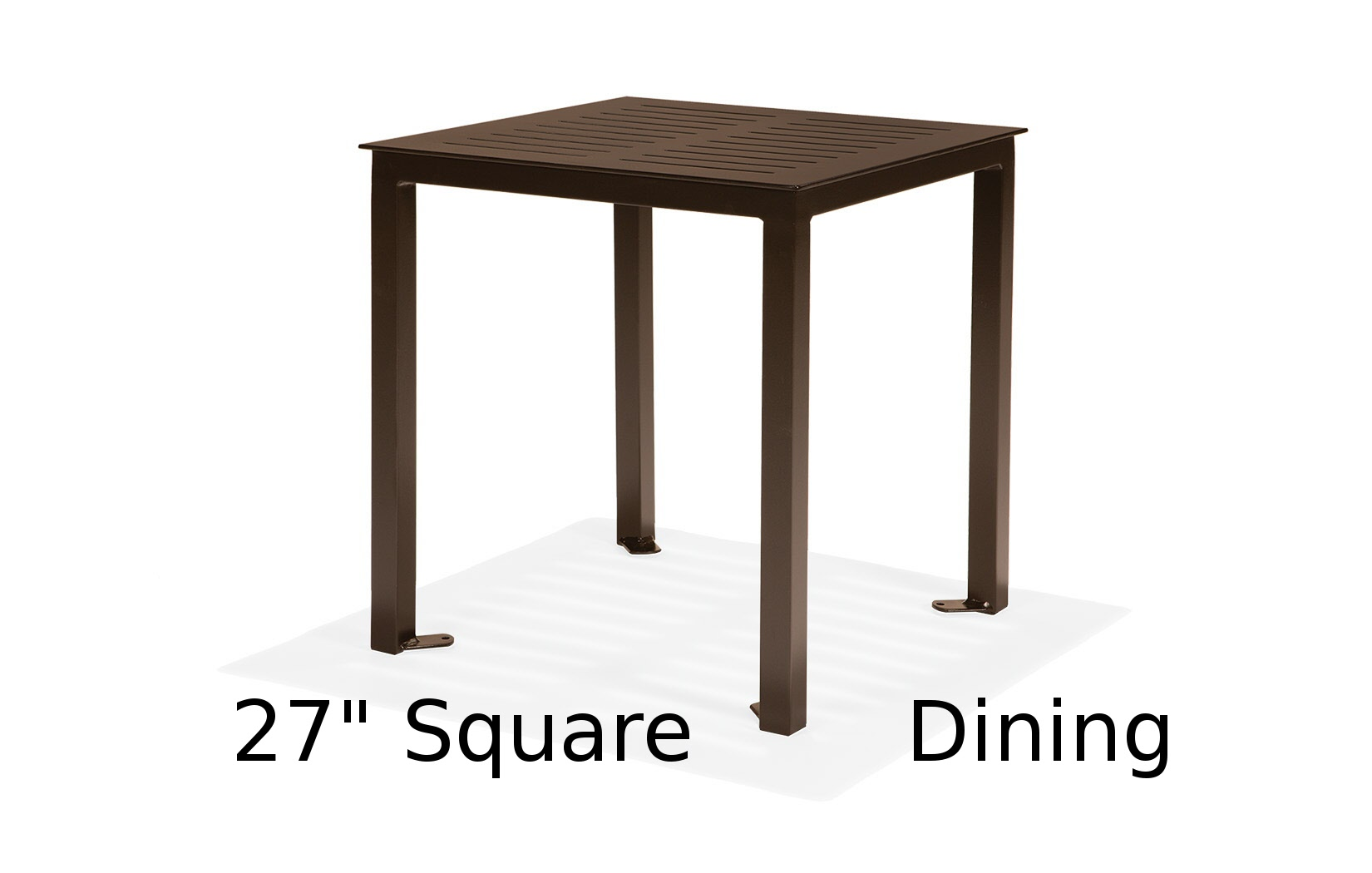M27CFA-ST  Portico Restaurant Collection 27 Inch Square Dining Table