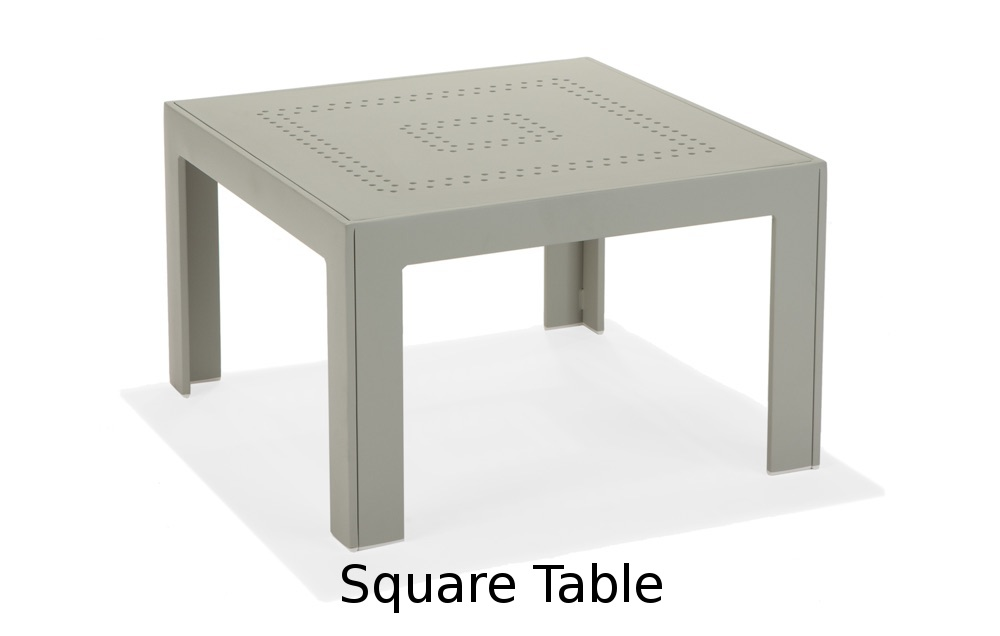 M32007  Vibe Modular Collection Square Table