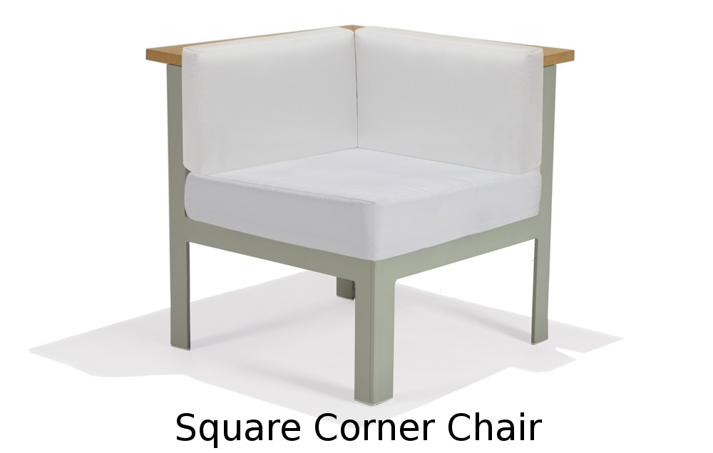 M32032L  Vibe Modular Collection Square Corner Chair - Left