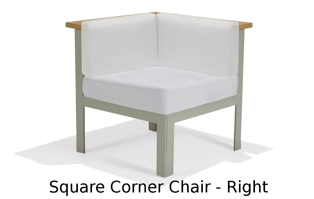 M32032R  Vibe Modular Collection Square Corner Chair - Right