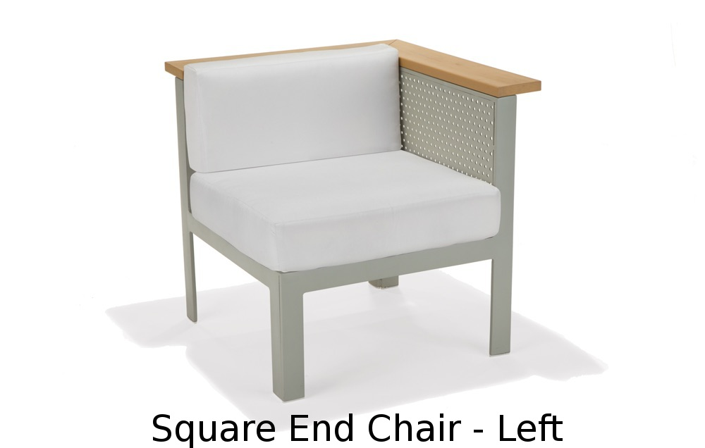 M32035L  Vibe Modular Collection Square End Chair - Left