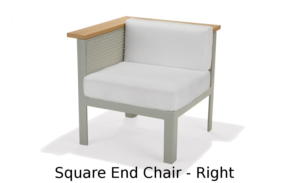 M32035R  Vibe Modular Collection Square End Chair - Right