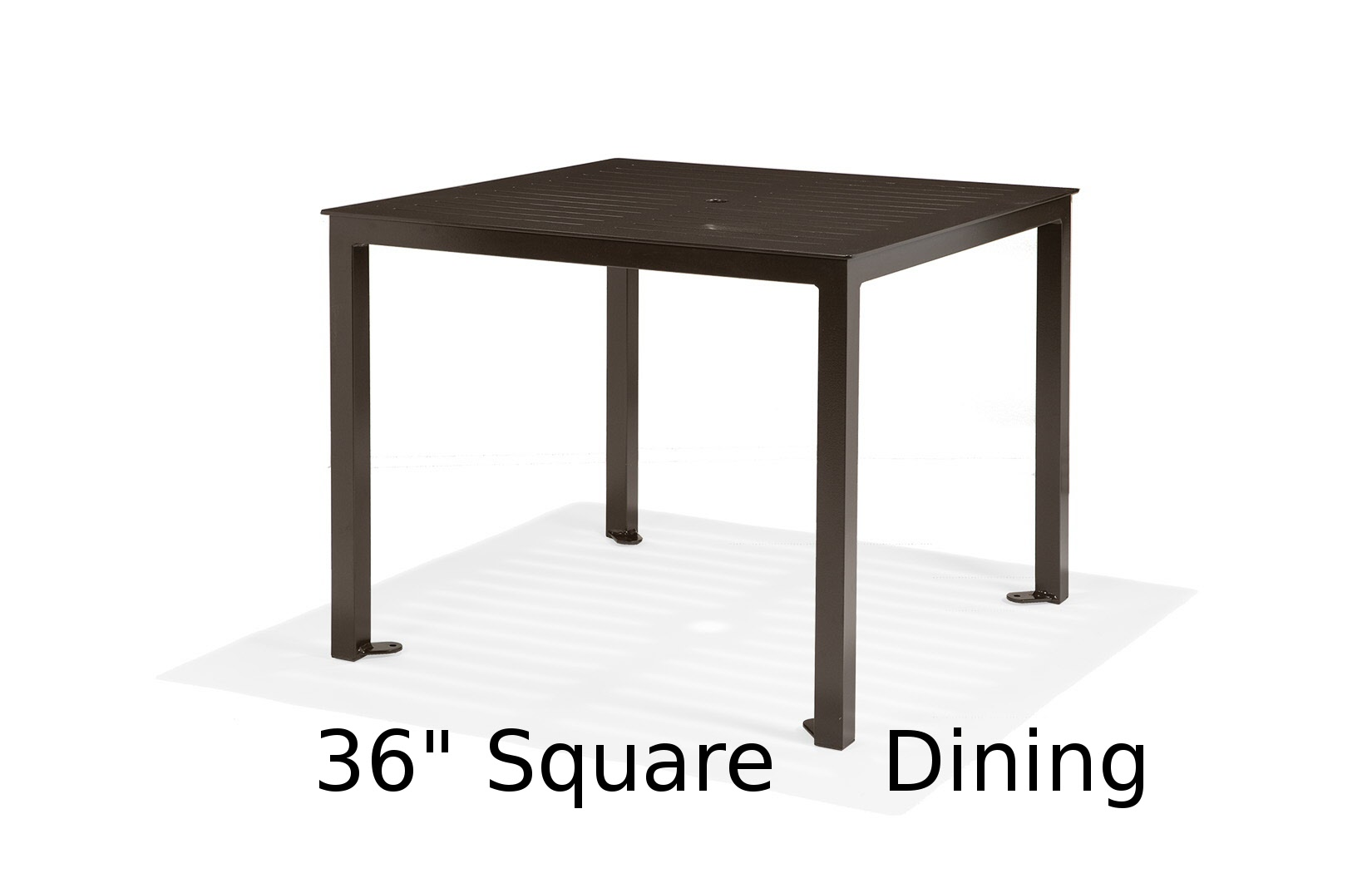 M36CFA-ST  Portico Restaurant Collection 36 Inch Square Dining Table
