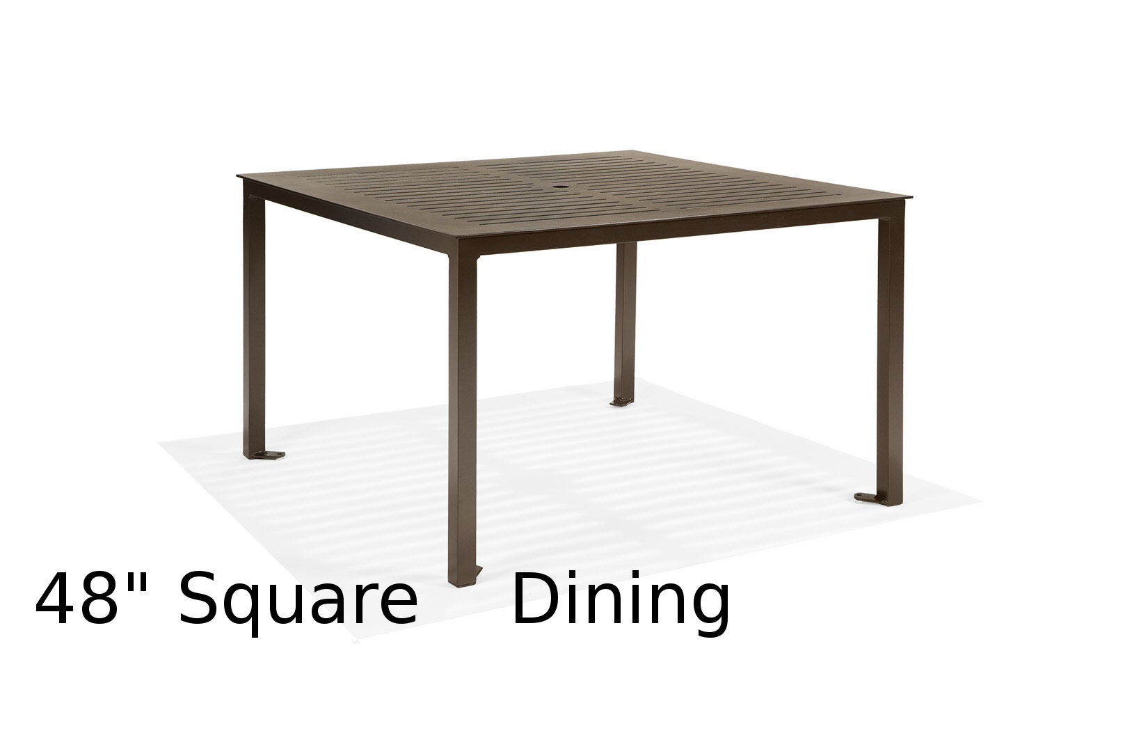 M48CFA-ST  Portico Restaurant Collection 48 Inch Square Dining Table