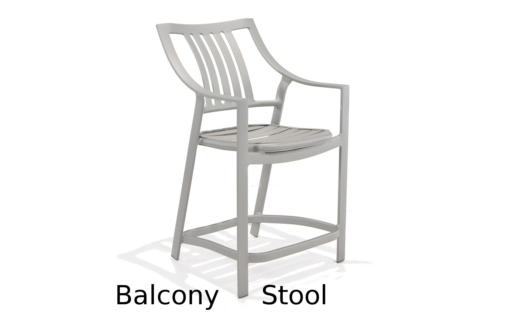 M5014BA  Bistro Bellano Collection Balcony Height Stool with Arms