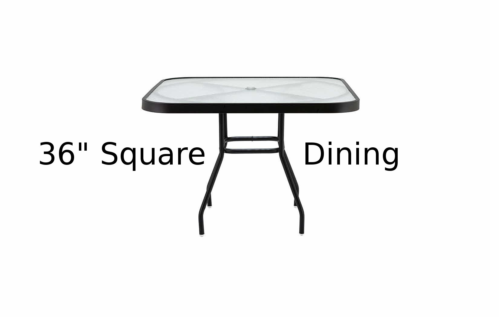 M536-SQA  36 Inch Square Acrylic Top Dining Table