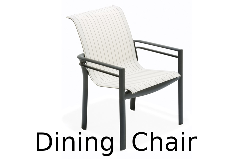 M66001  Southern Cay Sling Collection Nesting Dining Chair