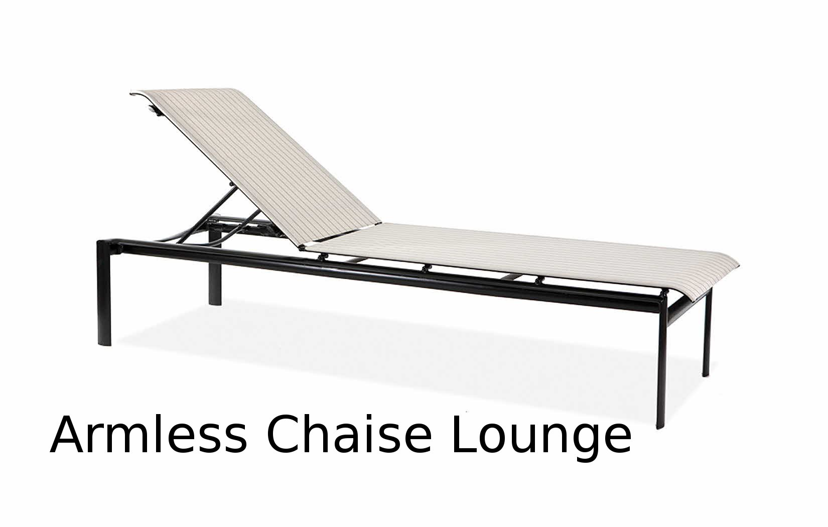 M66009  Southern Cay Sling Collection Armless Chaise Lounge