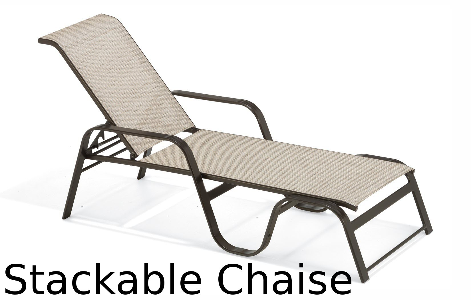 M7229R  Keywest Sling Collection Stackable Chaise Lounge
