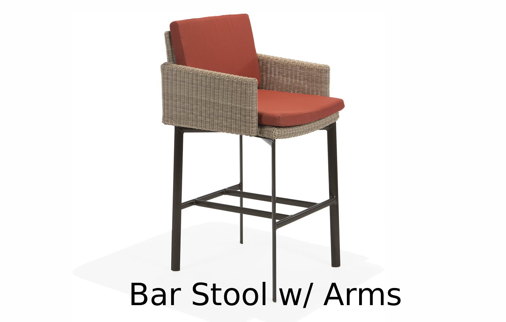 M74014C  Couer dAlene Bar Stool with Arms
