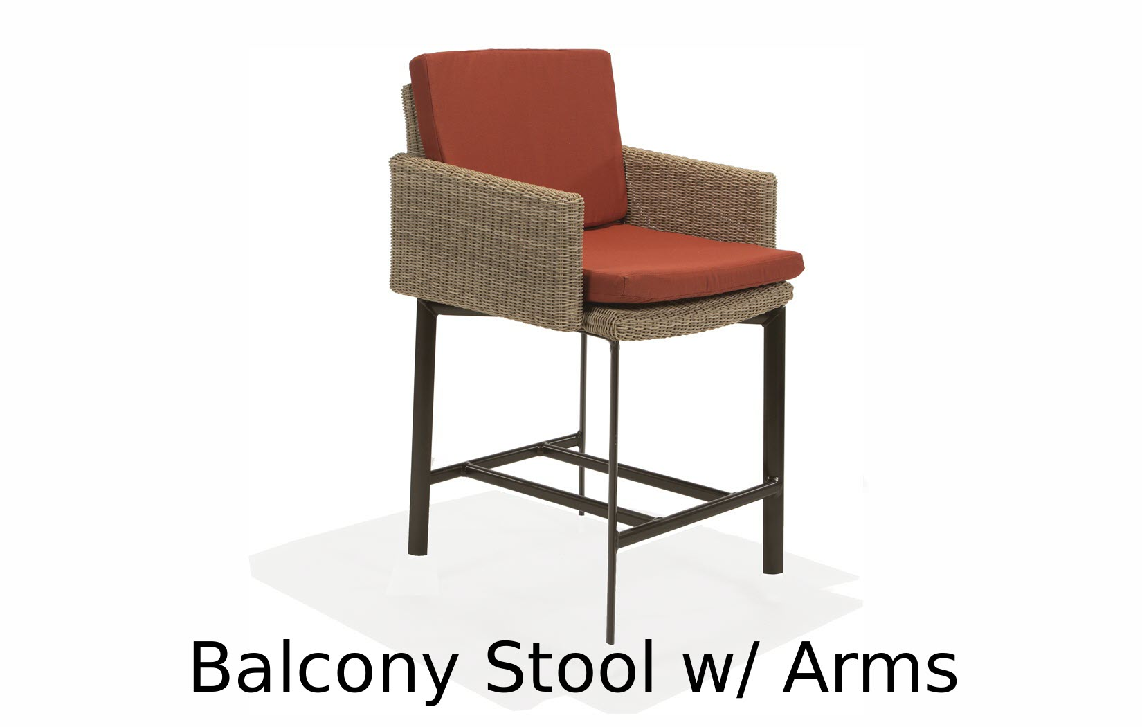 M74014BAC  Couer d'Alene Collection Balcony Stool with Arms