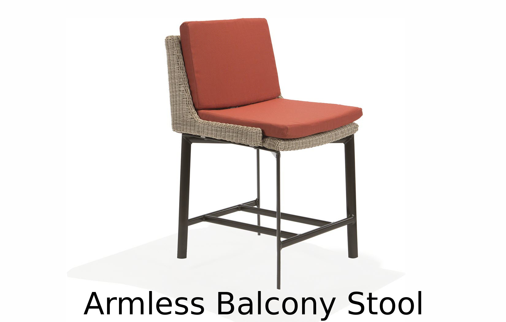 M74014BC  Couer d'Alene Collection Armless Balcony Stool