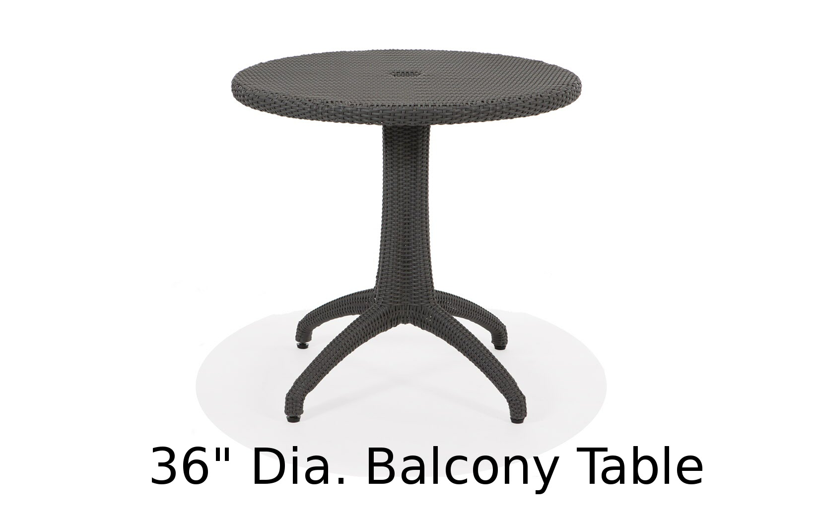 M75036BRD  Lantana Collection Round Balcony Table