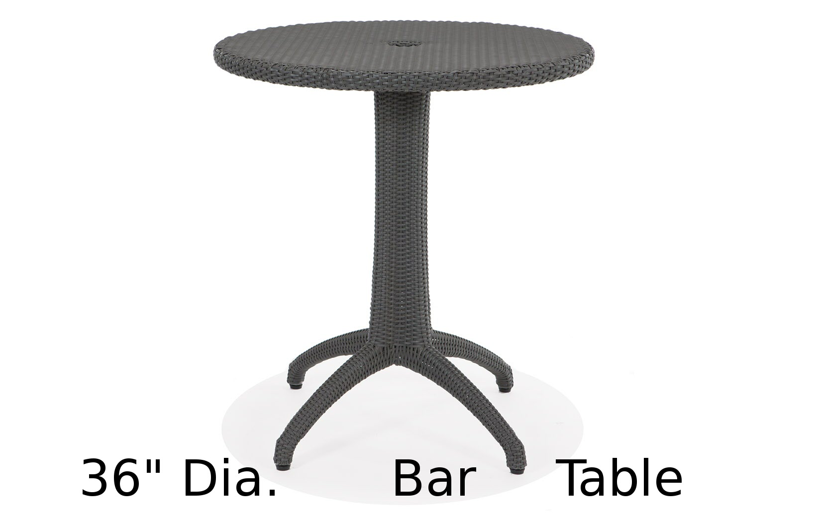 M75036HRD  Lantana Collection Round Bar Height Table
