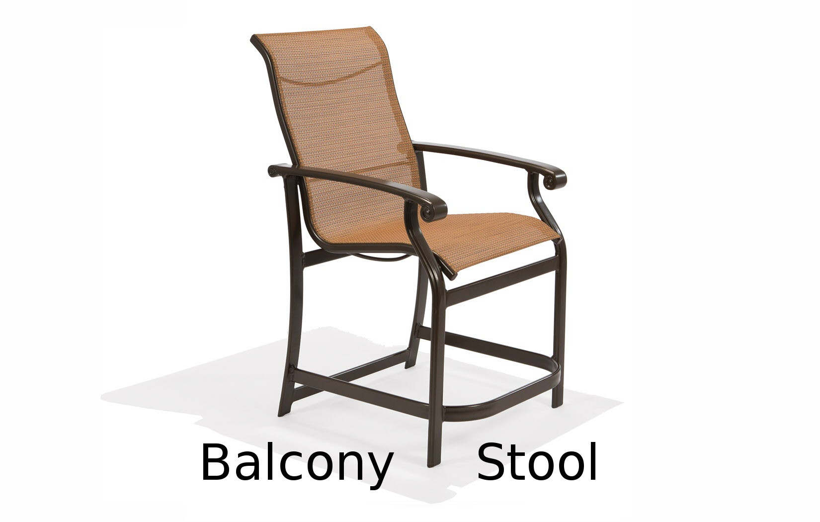 M7514B  Madera Sling Collection Balcony Height Stool