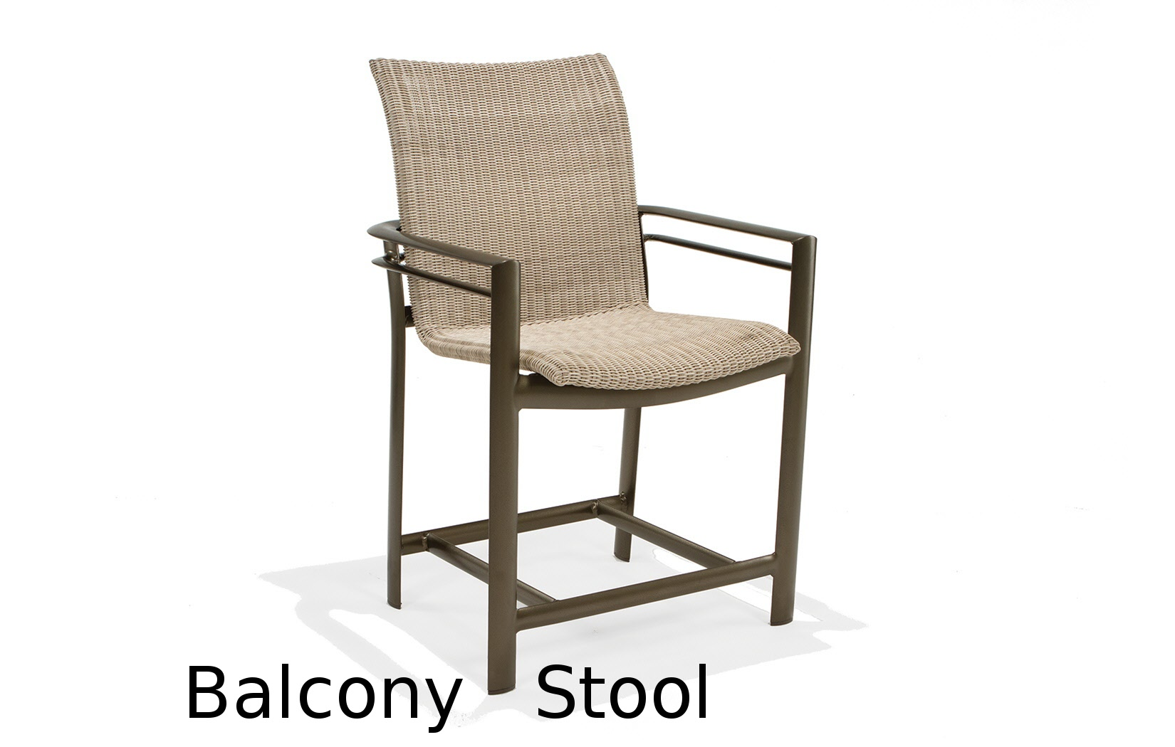 M76014B  Southern Cay Woven Collection Balcony Height Stool