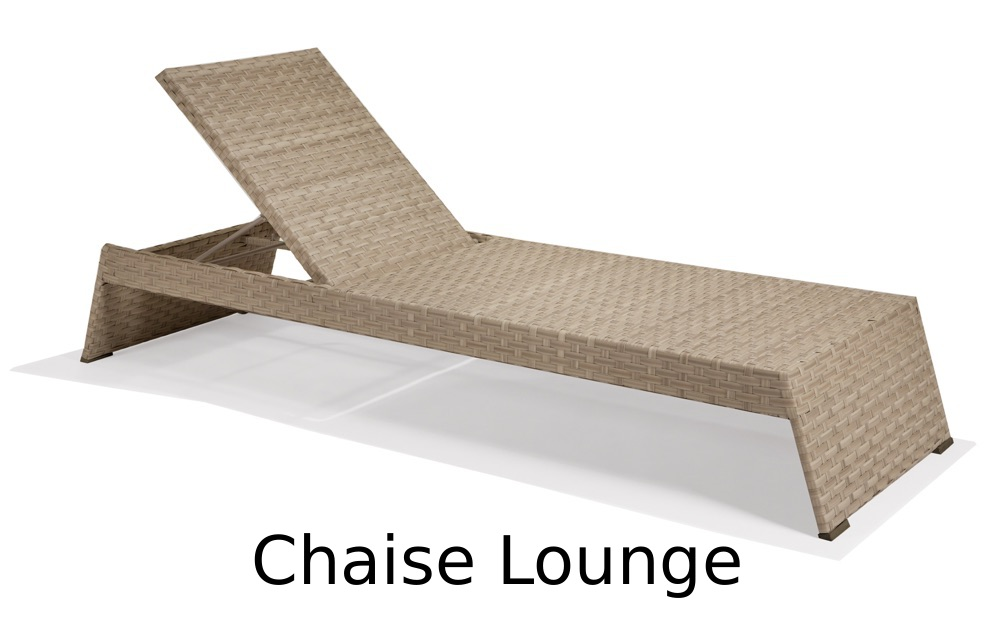 M77009  Nexus Collection Stacking Chaise Lounge