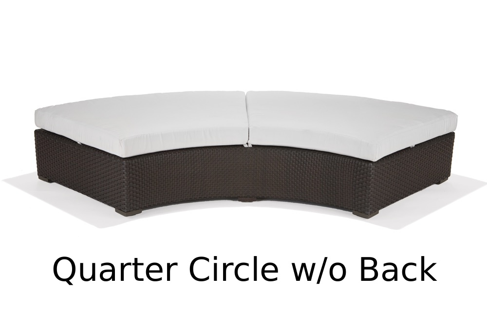 M77030  Nexus Collection Quarter Circle Lounger without Back