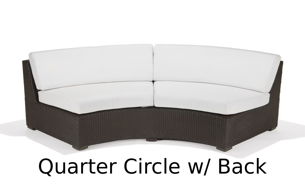 M77033  Nexus Collection Quarter Circle Lounger with Back