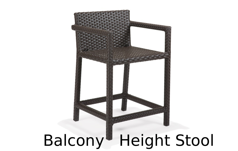 M77093B  Nexus Collection Balcony Height Stool with Back