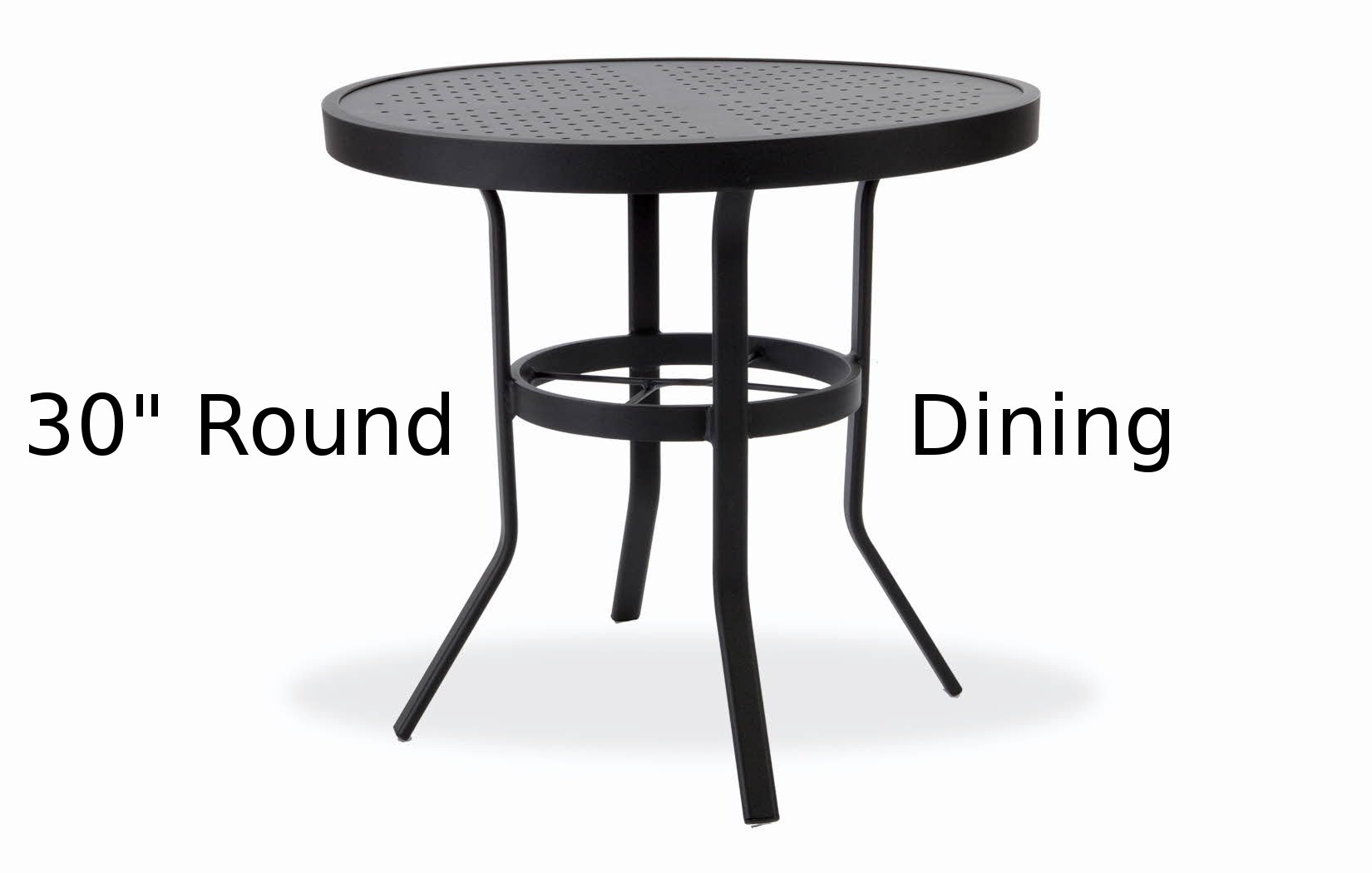 M8130-ST  Matrix Stamped Aluminum 30 Inch Round Dining Table
