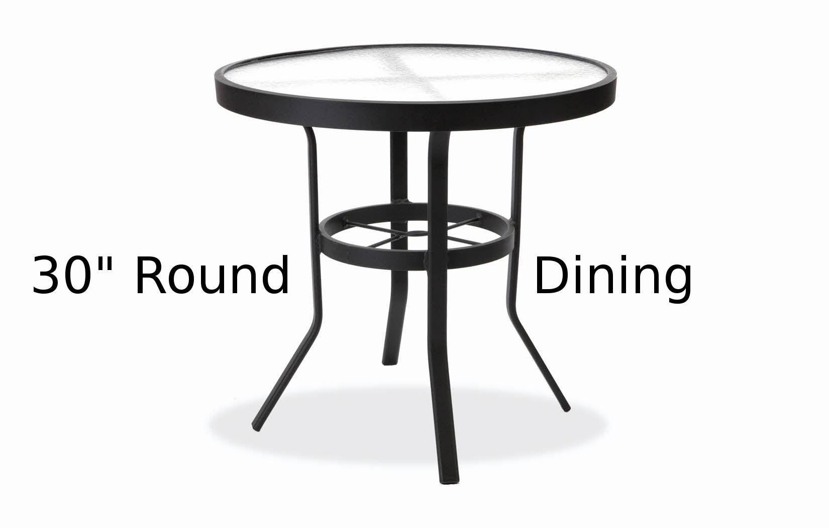 M8130A  30 Inch Round Acrylic Top Dining Table